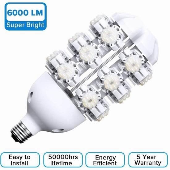 金盒头条:历史最低价!SANSI 60W 6000流明超亮 防水LED照明灯 53.99加元包邮!仅限今日!