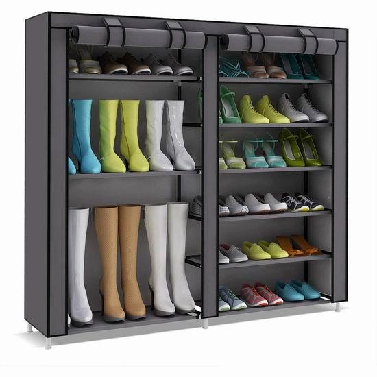 UDEAR 带防尘罩 6层鞋架 28.76-28.89加元!2色可选!