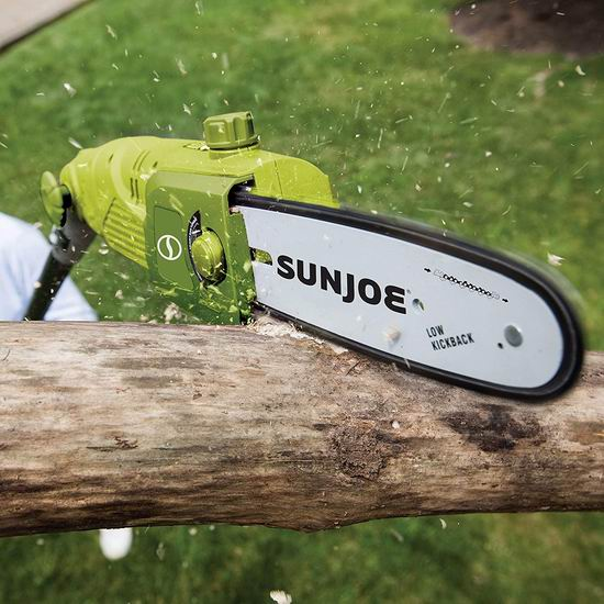 近史低价!Sun Joe SWJ803E 10英寸 8安培 多角度电动修枝机 99.97加元包邮!庭院修枝必备利器!