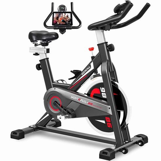 YONKFUL 家用静音健身自行车6.7折 289.99加元限量特卖并包邮!