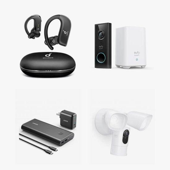 金盒头条:精选 Anker、eufy、Soundcore、Nebula 真无线耳机、无线耳机、蓝牙音箱、可视门铃、安防摄像头、投影仪、充电宝、充电板、USB线等6.1折起!
