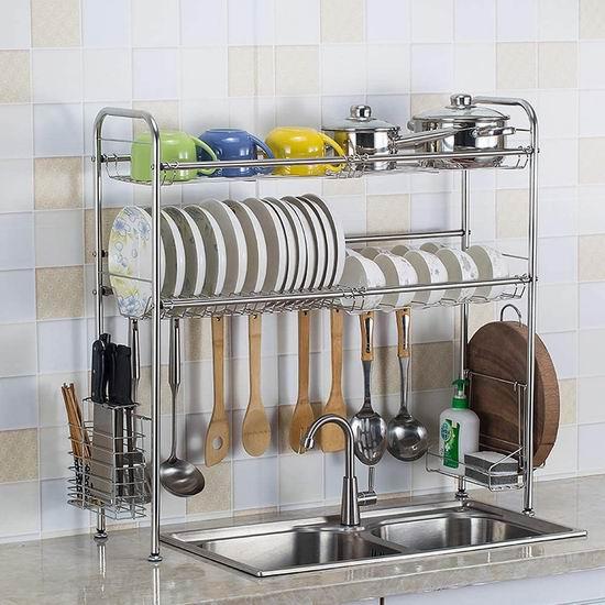 HOMESPON 可调节水槽上餐具沥水架5.7折 39.99加元限量特卖并包邮!