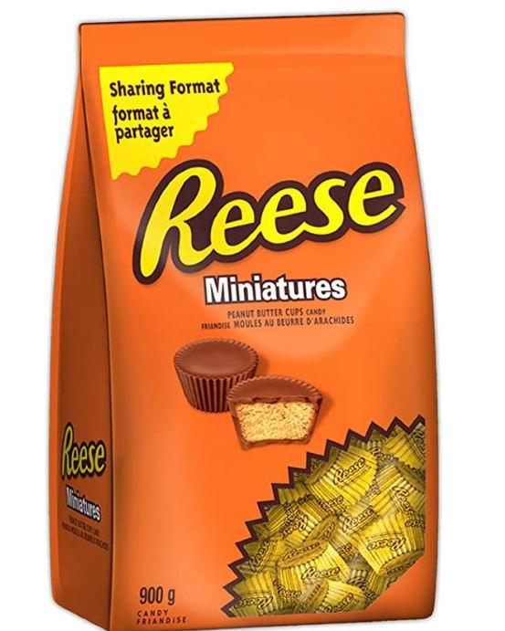 Reese 巧克力糖果花生酱杯 900克 9.97加元,原价 12加元