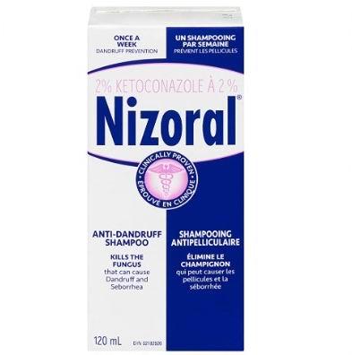 Nizoral 2%酮康唑 去脂溢性头皮屑洗发水120毫升 19.99加元