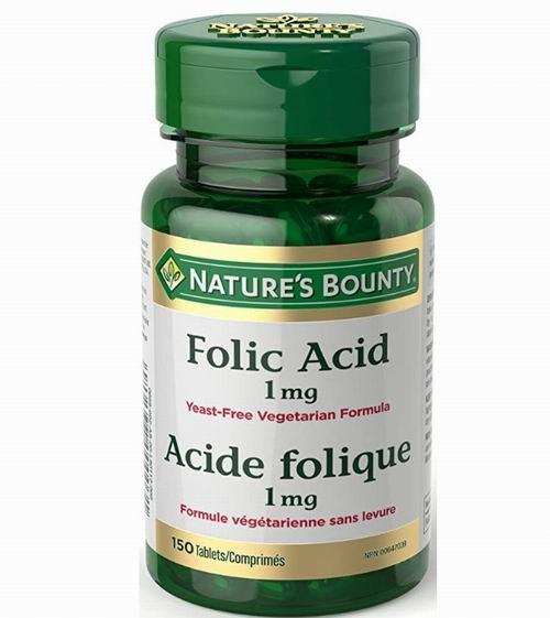 Nature's Bounty 叶酸补充剂 1mg 150片 4.86加元,原价 6.48加元