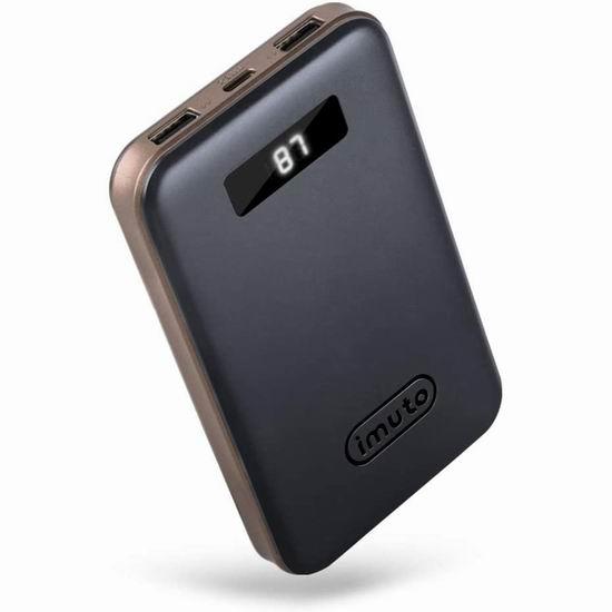 历史新低!iMuto 10000mAh 18W QC 3.0 USB-C 超紧凑移动电源/充电宝 19.99加元包邮!免税!
