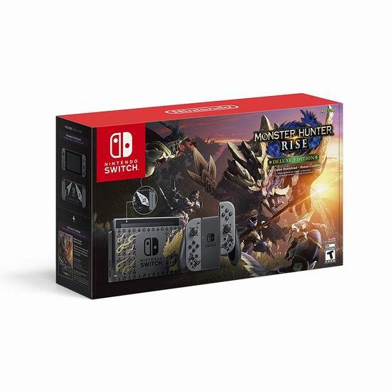 新品上市!Nintendo 《怪物猎人崛起》特别版 Switch 游戏机套装 469.96加元包邮!另有游戏单卖79.99加元!