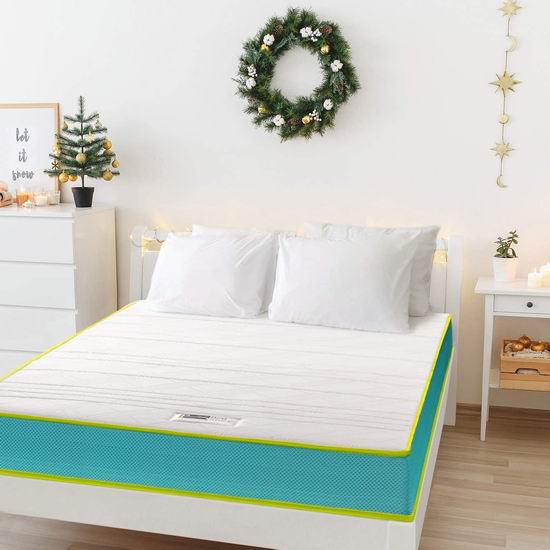 历史新低!BedStory 6英寸 中等硬度 弹簧+海绵 Twin床垫5折 87.99加元包邮!免税!