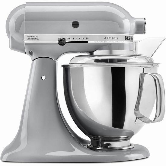 手慢无!KitchenAid 厨宝 KSM150PSMC Artisan 名厨系列 5夸脱多功能厨师机 399.99加元包邮!