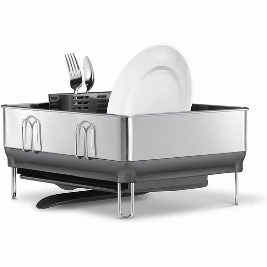 历史新低!Simplehuman 高颜值 不锈钢餐具沥水架 48.68加元包邮!