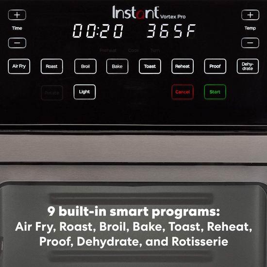 Instant Vortex Pro 10夸脱 9合1多功能 空气炸锅 烤箱 189.99加元包邮!