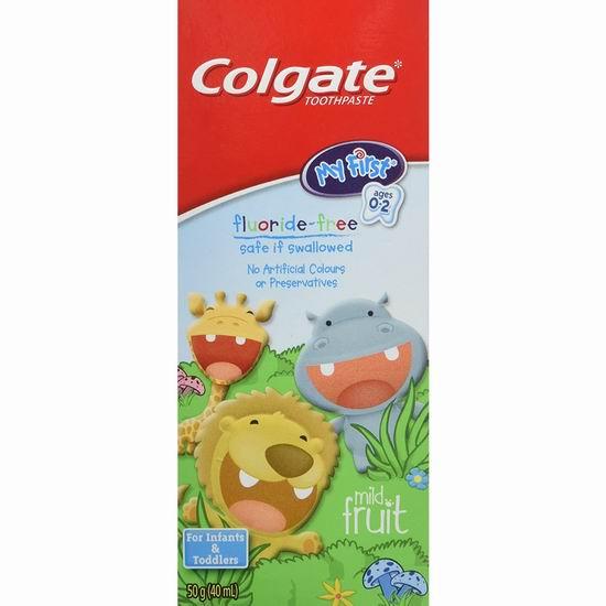历史最低价!Colgate 高露洁 儿童无氟牙膏 2.38加元包邮!