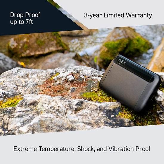 历史新低!Crucial 英睿达 X8 500GB 便携式SSD固态硬盘6.1折 91.33加元包邮!