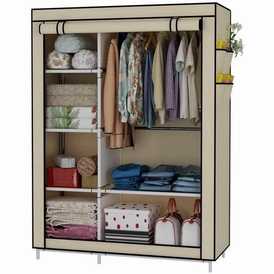 历史最低价!UDEAR 便携式简易衣柜 31.44加元!