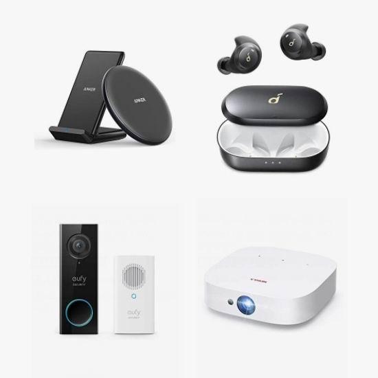 金盒头条:精选多款 Anker、eufy 等品牌可视门铃、监控摄像头、无线耳机、投影仪、USB充电器、无线充电板、充电宝、无线音箱5.5折起!