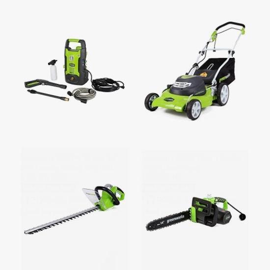金盒头条:精选 Greenworks 高压清洗机、割草机、电锯、修枝机、草坪修边机、吹扫机5.9折起!