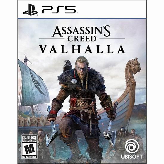 历史新低!《Assassin's Creed Valhalla 刺客信条:英灵殿 》PS4/PS5/Xbox版游戏5.3折 42.5加元包邮!