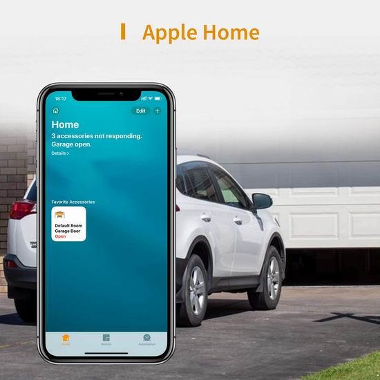 历史新低!Refoss Apple HomeKit Wi-Fi 智能车库开门器 44.99加元包邮!支持手机遥控、Siri、Alexa、Google语音控制!