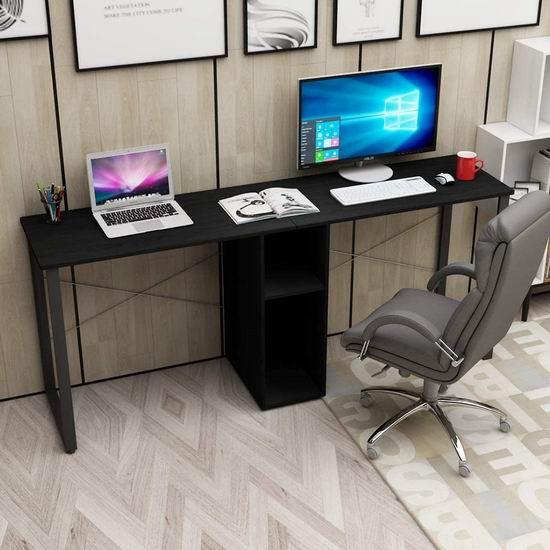 sogesfurniture 78英寸 双人加长电脑桌/书桌5折 99加元限量特卖并包邮!3色可选!