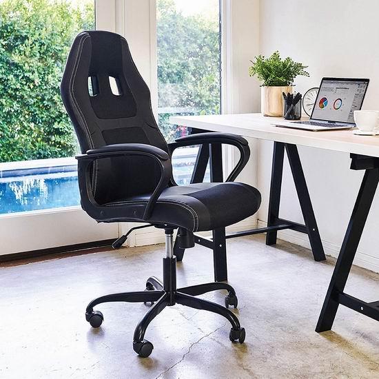 BestOffice 高靠背赛车办公椅/游戏椅 6.3折 89.99加元,原价 141.99加元,包邮
