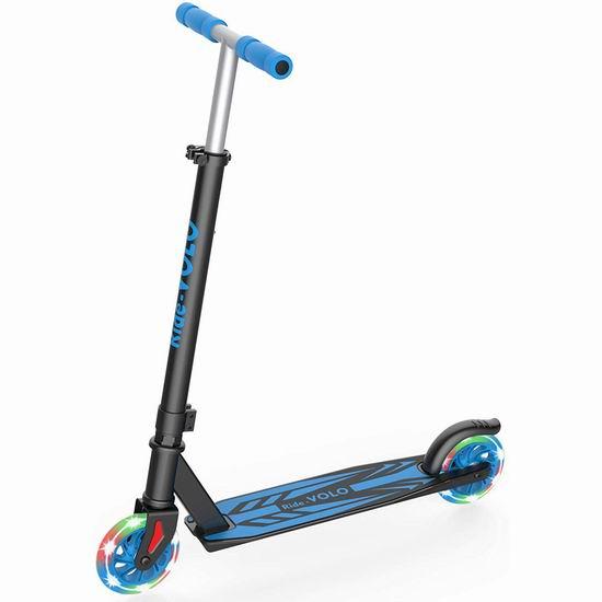 历史新低!RideVOLO K05 炫酷LED 儿童滑板车 41.99加元包邮!免税!5色可选!