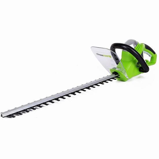 历史新低!GreenWorks 2200102 4安培 22英寸 电动修枝机5.9折 54.97加元包邮!