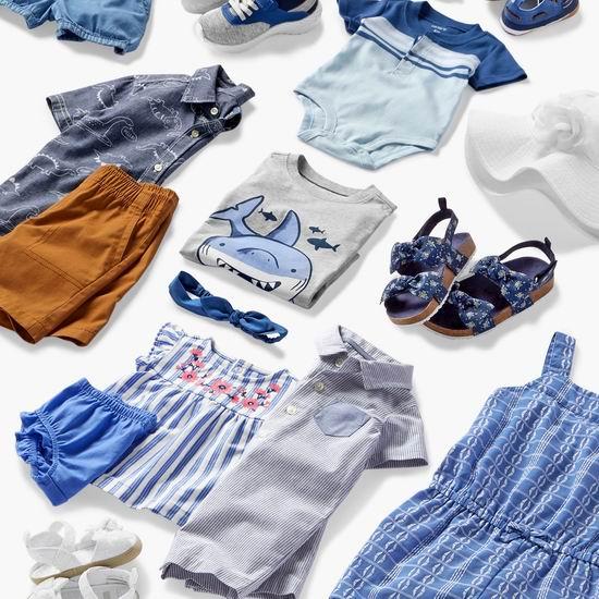 Carter's OshKosh官网大促,全场春夏童装、童鞋5折起+变相额外8折!