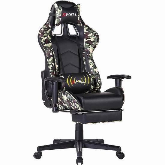 EDWELL 人体工学 高靠背赛车办公椅/游戏椅 178.49加元限量特卖并包邮!