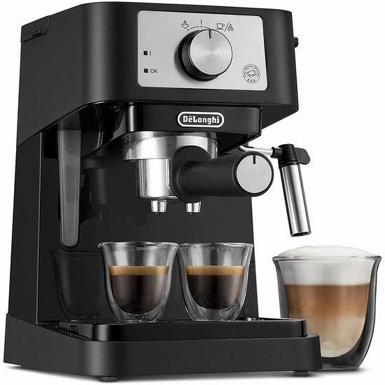 历史新低!DeLonghi 德龙 EC260BK Stilosa 意式浓缩咖啡机 129.99加元包邮!