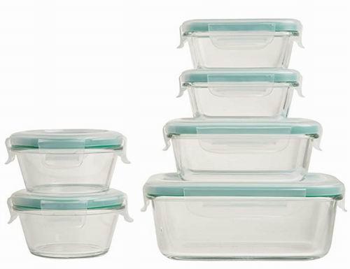 OXO Good Grips 带密封盖 玻璃保鲜碗12件套 39.05加元,原价 61.99加元,包邮
