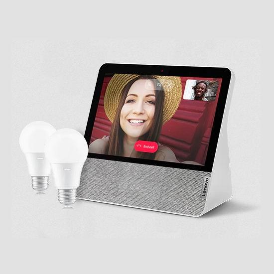 Lenovo 联想 Smart Display 7英寸智能显示屏4.6折 85.49加元包邮!送价值35.98加元智能灯泡2个!