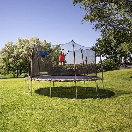 补货!Skywalker Trampolines 15英尺带保护罩+篮球框 封闭蹦床 412.91加元包邮!