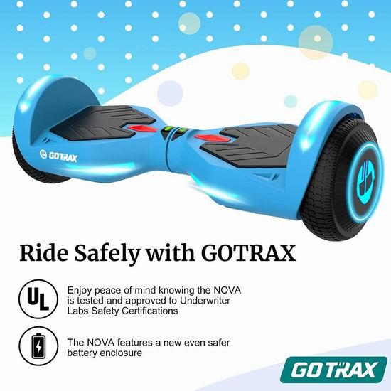 GOTRAX NOVA 400W 双电机 体感平衡车7.8折 179.99加元包邮!