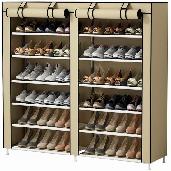 UDEAR 带防尘罩 6层鞋架 33.88加元!