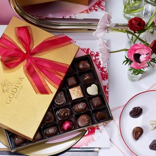 母亲节特惠!Godiva 歌帝梵巧克力优选礼盒5折起!来自比利时皇室,送礼绝佳选择!