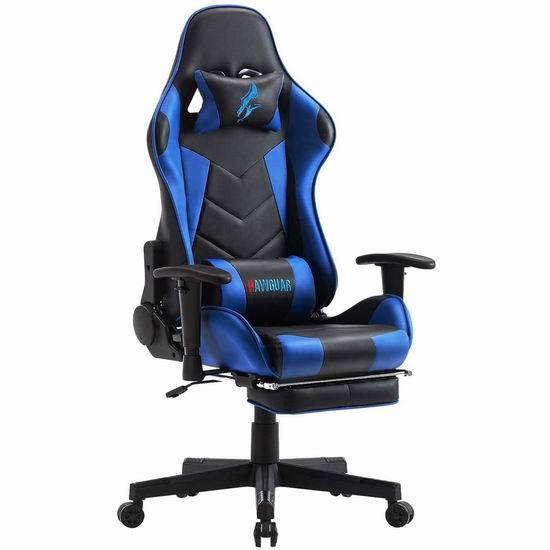 HAWGUAR 人体工学 高靠背赛车办公椅/游戏椅 161.49-169.99加元限量特卖并包邮!4色可选!