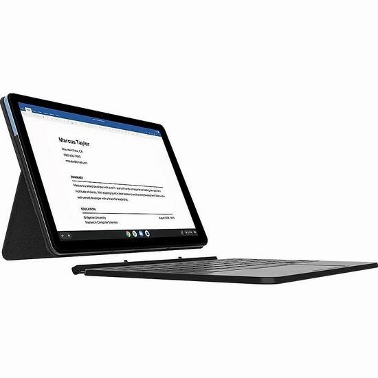 好价!Lenovo 联想 IdeaPad Duet Chromebook 10.1英寸 二合一 触摸屏 平板电脑/笔记本电脑 270加元包邮!