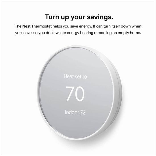 Google Nest Thermostat 高颜值 家用智能温控器6.9折 129.99加元包邮!2色可选!