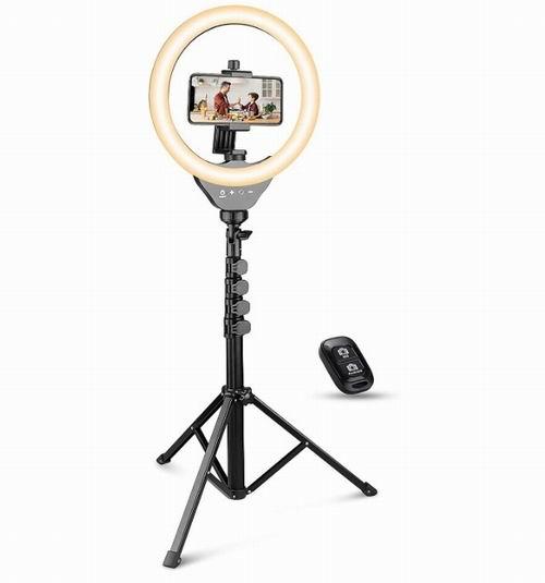UBeesize 10英寸自拍环形灯 带电话支架 42.99加元+包邮