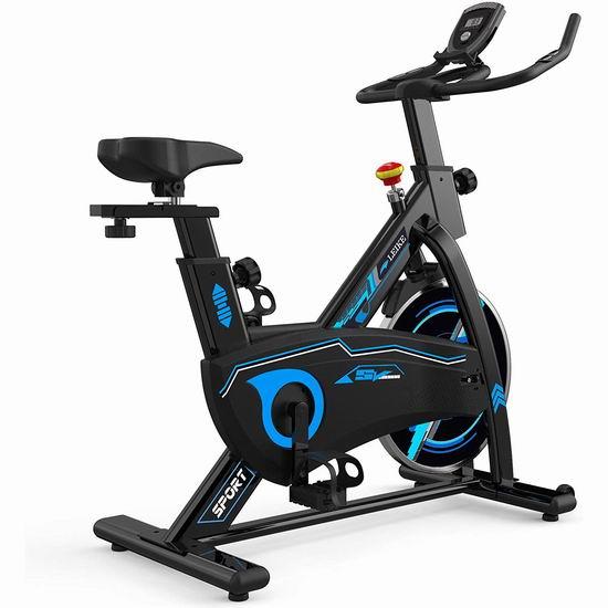 leikefitness 家用静音健身自行车7.1折 246.65加元并包邮!