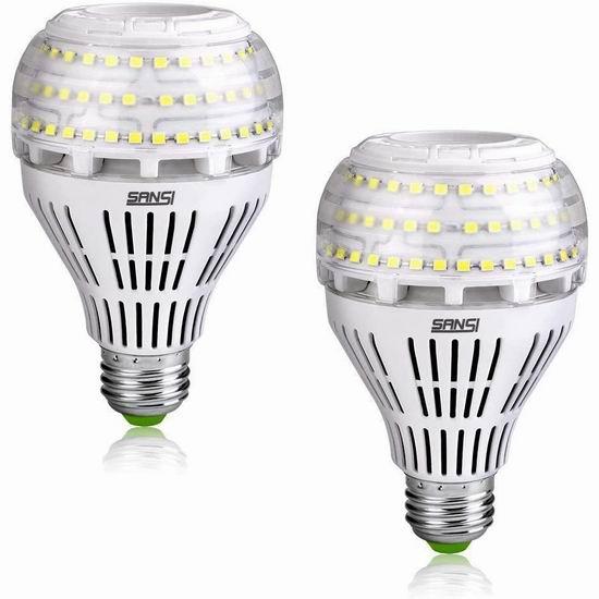 金盒头条:SANSI 27W 4000流明超亮 LED照明灯2件套 44.79加元包邮!