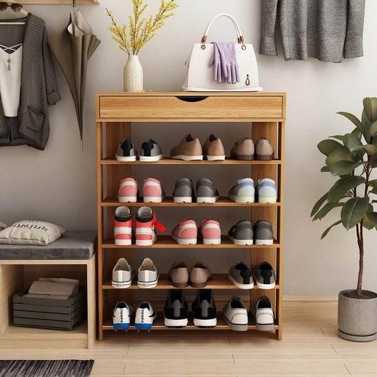 sogesfurniture 5层式 带抽屉 木质鞋架 69加元包邮!