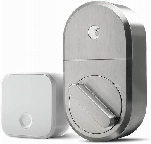 史低价!August Smart Lock + Connect智能门锁套装 6.9折 144.99加元,原价 209.79加元,包邮