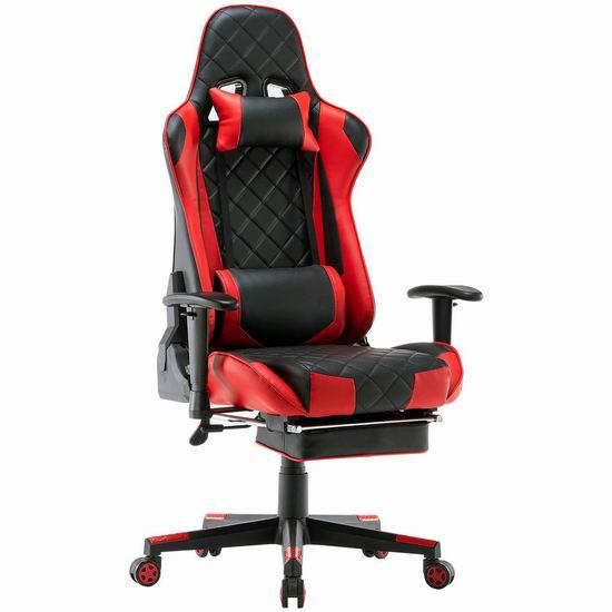 历史新低!DJ·Wang 人体工学 高靠背赛车办公椅/游戏椅 169.15-177.65加元包邮!3色可选!