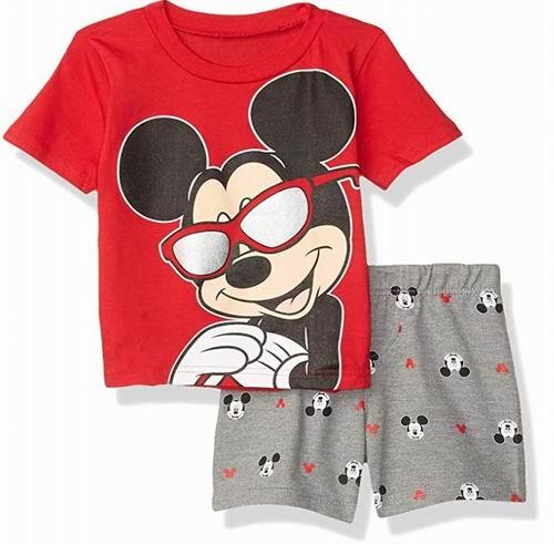 Disney 儿童米奇老鼠T恤+短裤套装 16.99加元,原价 37.43加元