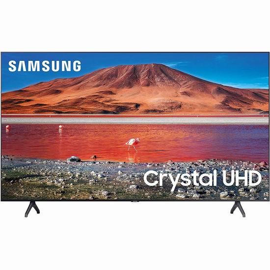 近史低价!Samsung 三星 TU7000 4K超高清 HDR 82英寸智能电视6.9折 1599.99加元包邮!