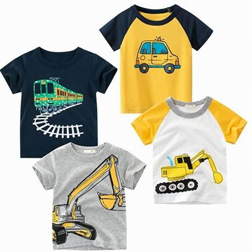 Kivors 男童卡通图案纯棉T恤 4件套 25.99加元,每件 6.5加元,多款可选
