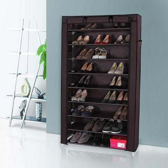 历史新低!Songmics 10层1.6米超大容量简易鞋柜 28.44加元!