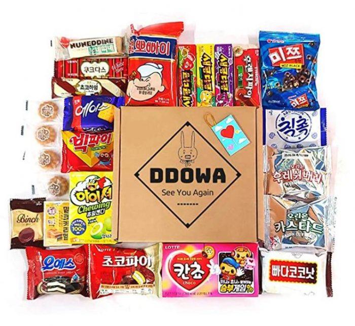 DDOWA韩国糖果、巧克力、饼干等22种零食小吃 42.49加元+包邮
