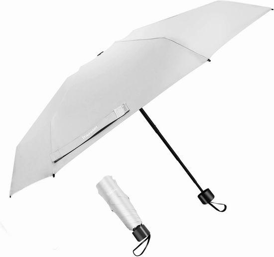 历史新低!TradMall 35.5英寸 防紫外线 可折叠雨伞 9.99加元!